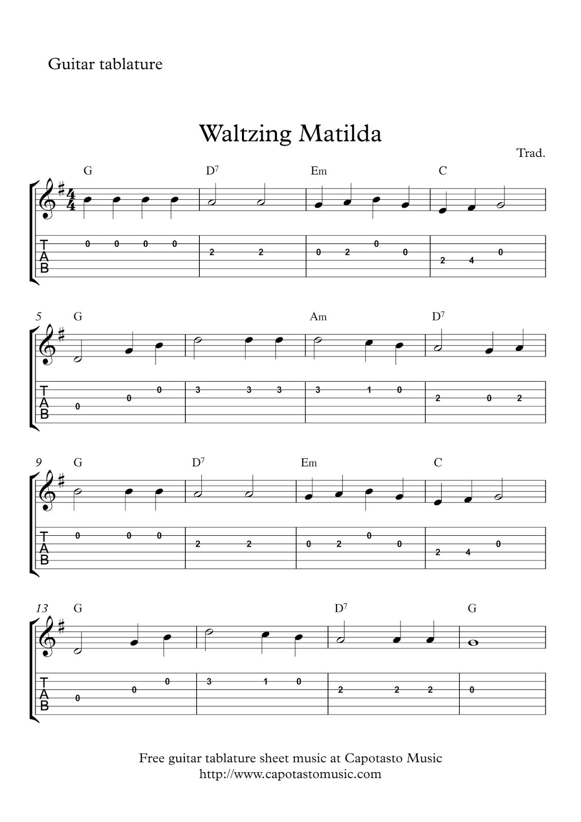 On this site you can download free printable sheet music