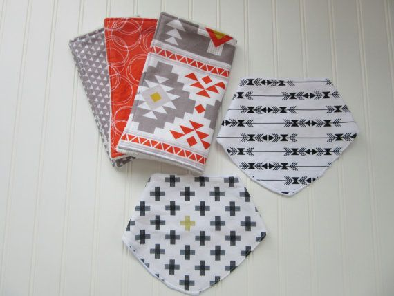 "ABOUT OUR BURP CLOTHS:  Each burp cloth measures approximately 9""x17"".  All burp cloths have a soft, chenille backing and a cute cotton print on"