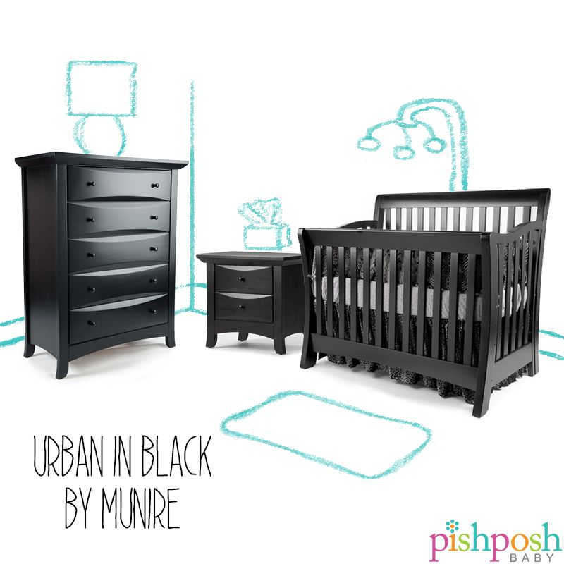 Sophisticated And Clean Lines Make The Urban Nursery Set In Black