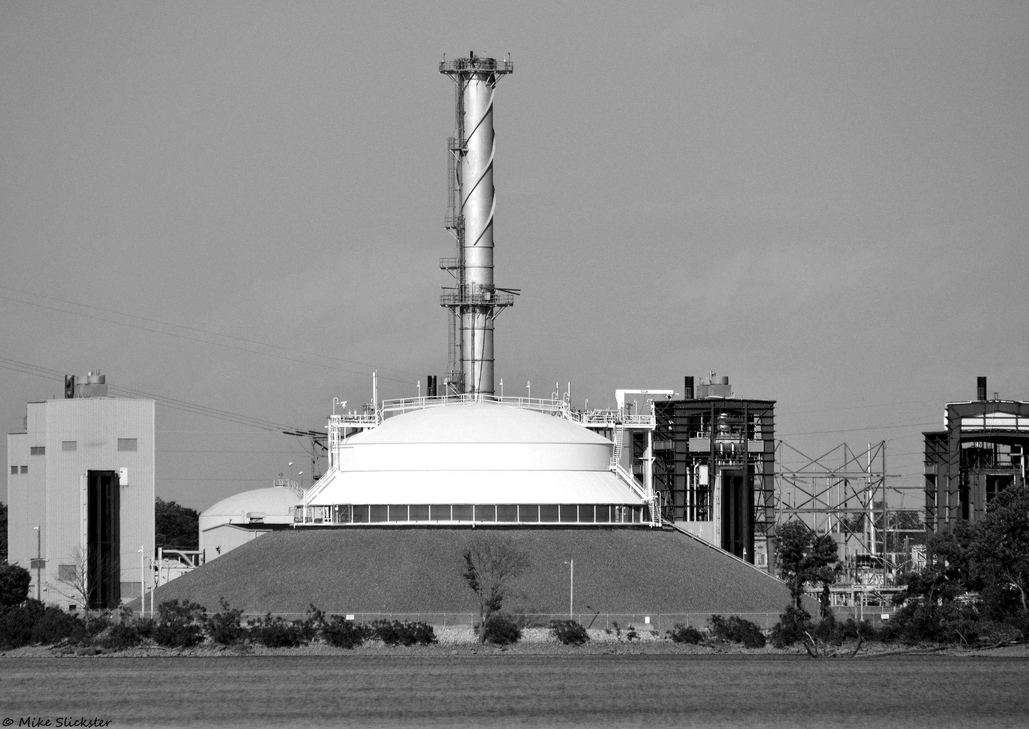 Burlington Power Plant, alongside of the Delaware River