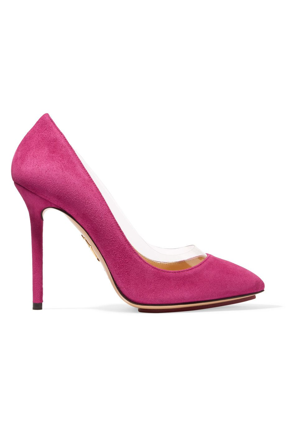 CHARLOTTE OLYMPIA Party Monroe Suede And Pvc Pumps.  charlotteolympia  shoes   pumps 4b8a2024d