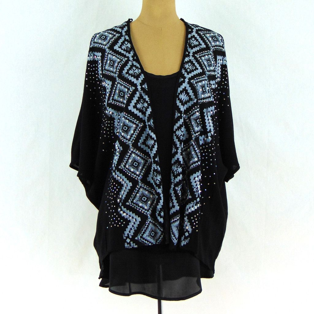 This lightweight sheer black cardigan is great for spring, summer ...