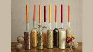 Wine Bottle Decor Fill Clear Wine Bottles With Various Seeds Beans And Grains For