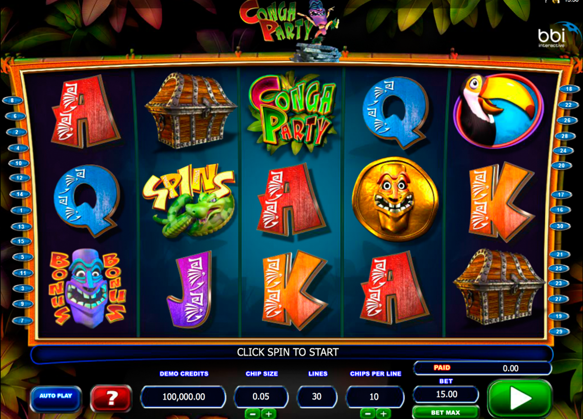 Its conga party time this amazing slot machine powered by casino games izmirmasajfo