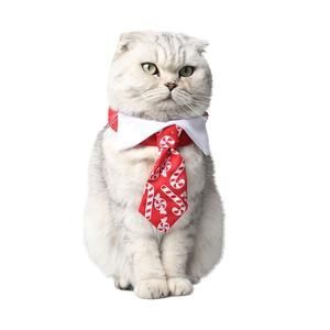 Make sure your cat or dog is dressed to impress at your next holiday party with this cute adjustable Christmas tie