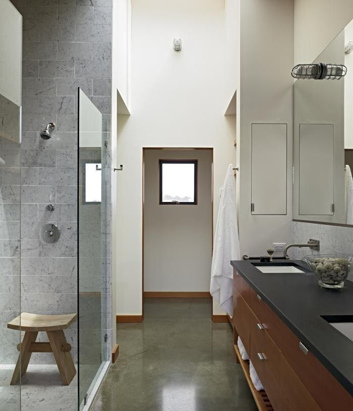 Under Mount Sinks, Concrete Floor And Wood Cabinetry. Bathroom By Malcolm  Davis, Remodelista