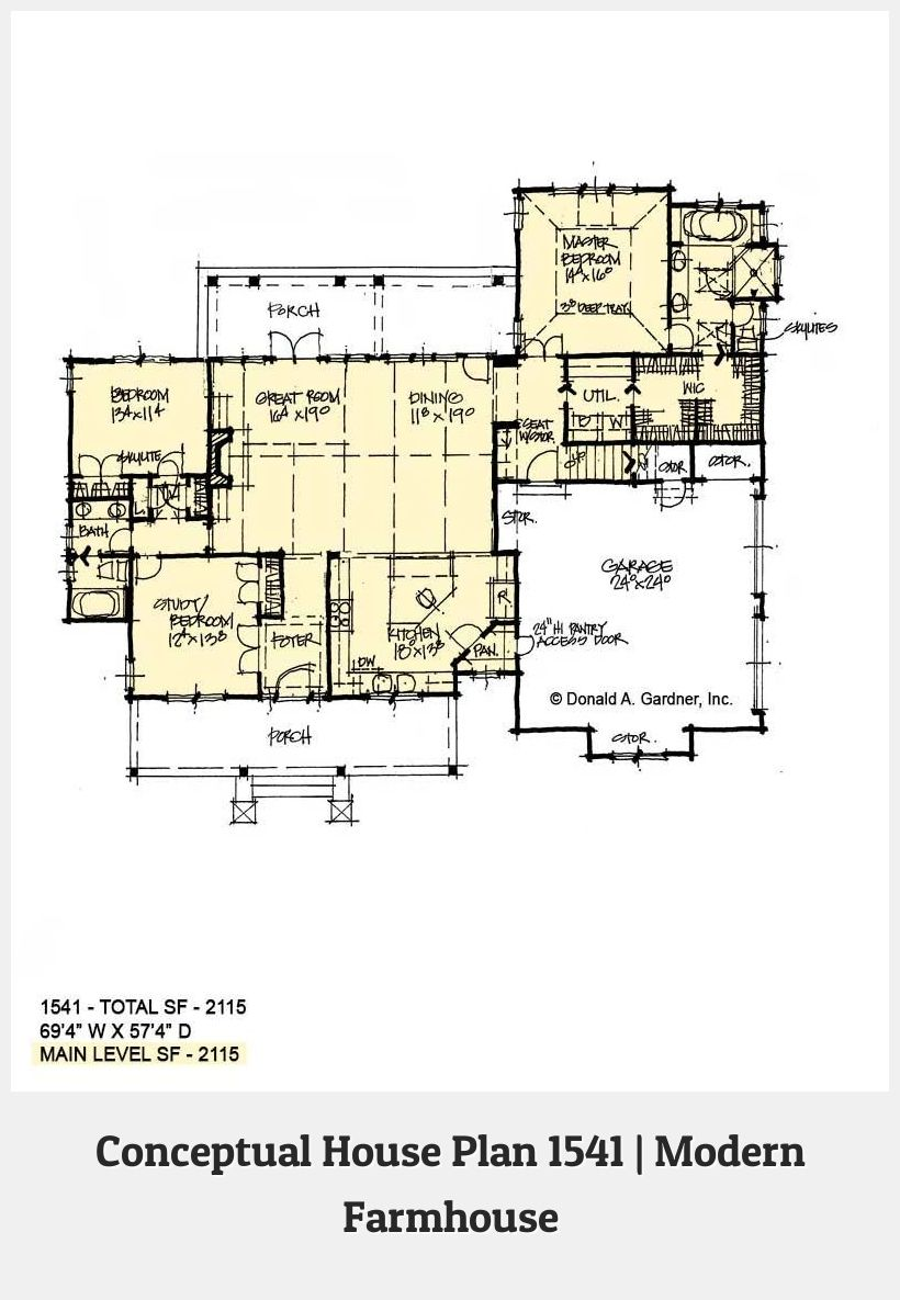 Modern House Design 77884 Conceptual House Plan 1541 Is A Modern Farmhouse Design With A Family Friendly F House Plans Modern Farmhouse Modern Farmhouse Design