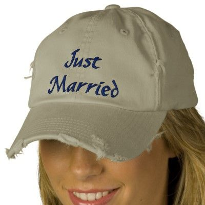 Just Married Hat | Zazzle