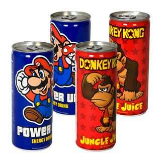 Nintendo Energy Drinks... haha, I just want the cans