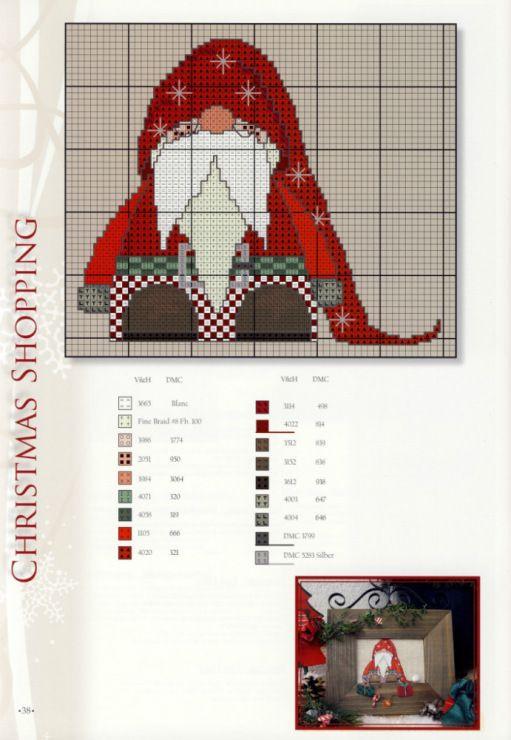 Cross-stitch Santa Gnome... Encontrado en auroraten.gallery.ru santa ...