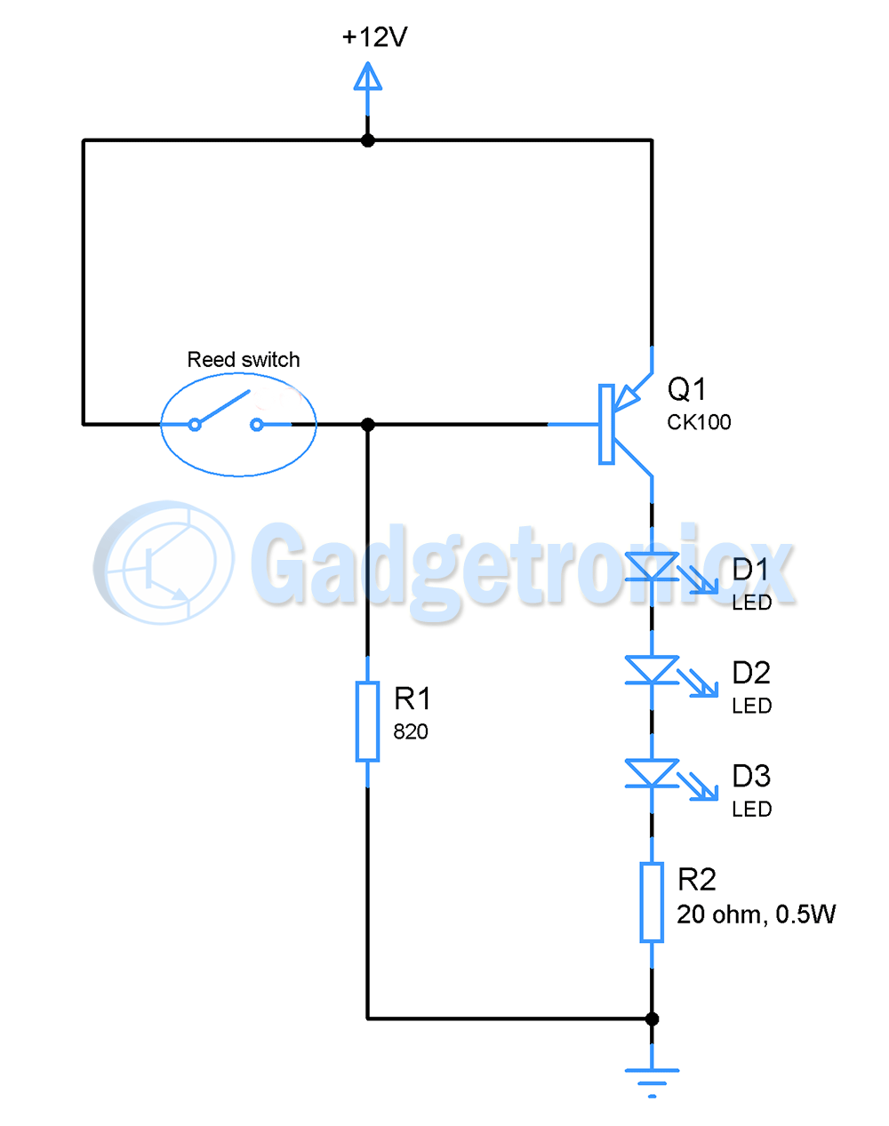 medium resolution of cupboard lighting circuit using transistor electronic circuits light by whistle electronic project circuit diagram