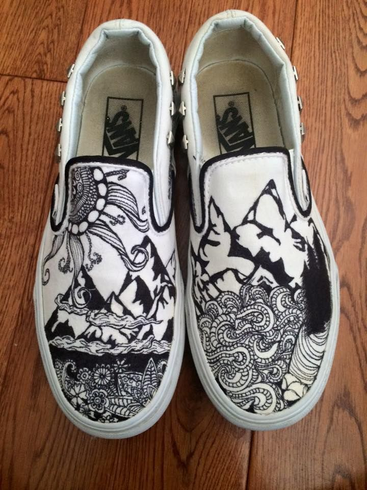 Drawing On Vans : drawing, Outdoor, Shoes, #vans, #sharpie, #drawing, #adventure, #outdoor, #design, Sharpie, Shoes,, Design, Sketches,, Sneakers, Drawing