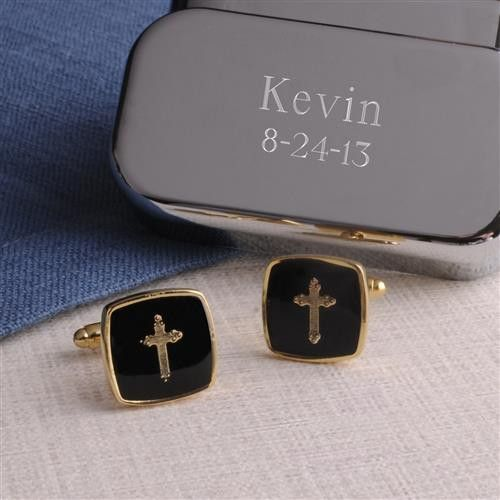 Cross Cufflinks With Case