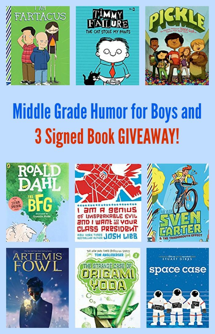 Middle Grade Humor for Boys and 3 Signed Book GIVEAWAY