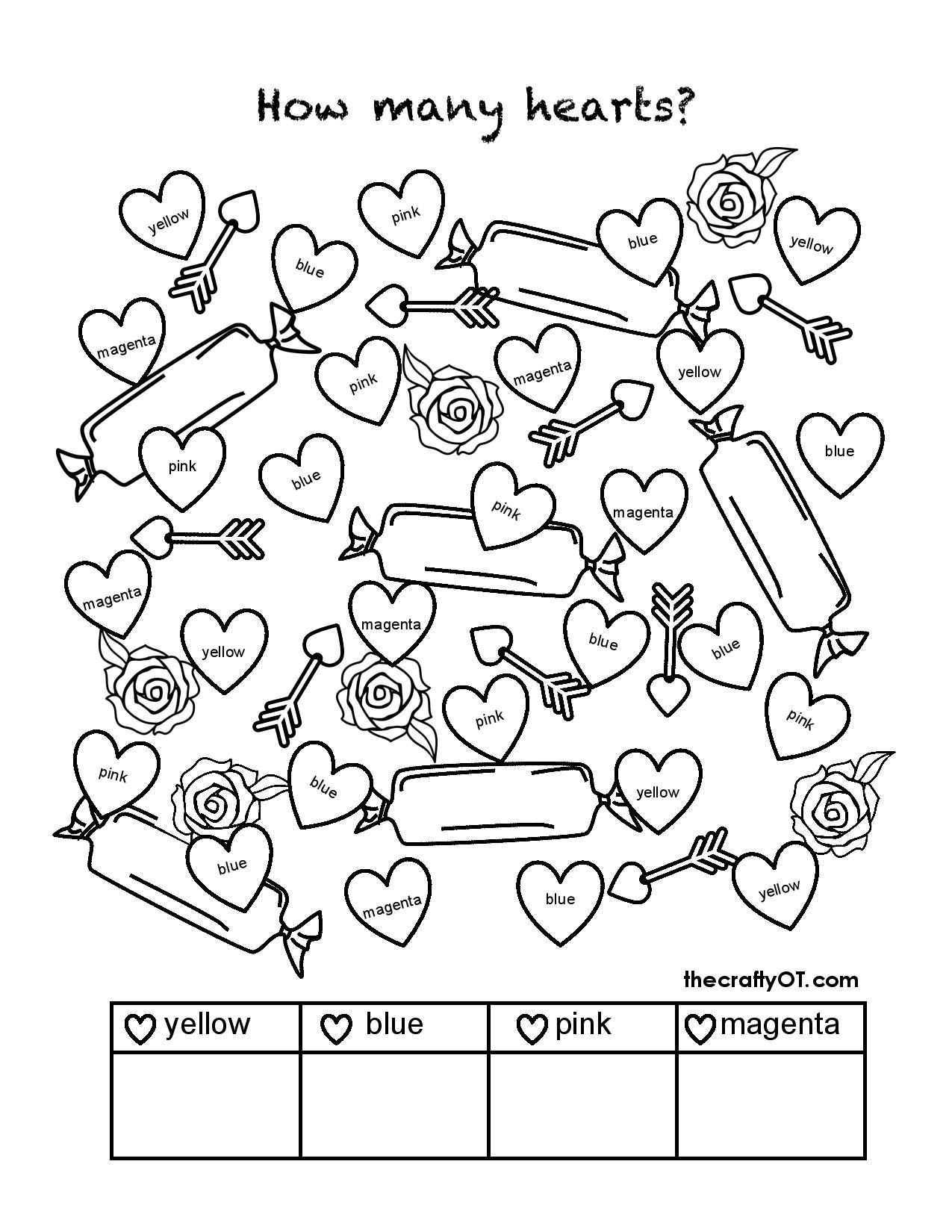 Free Valentine S Day Worksheets