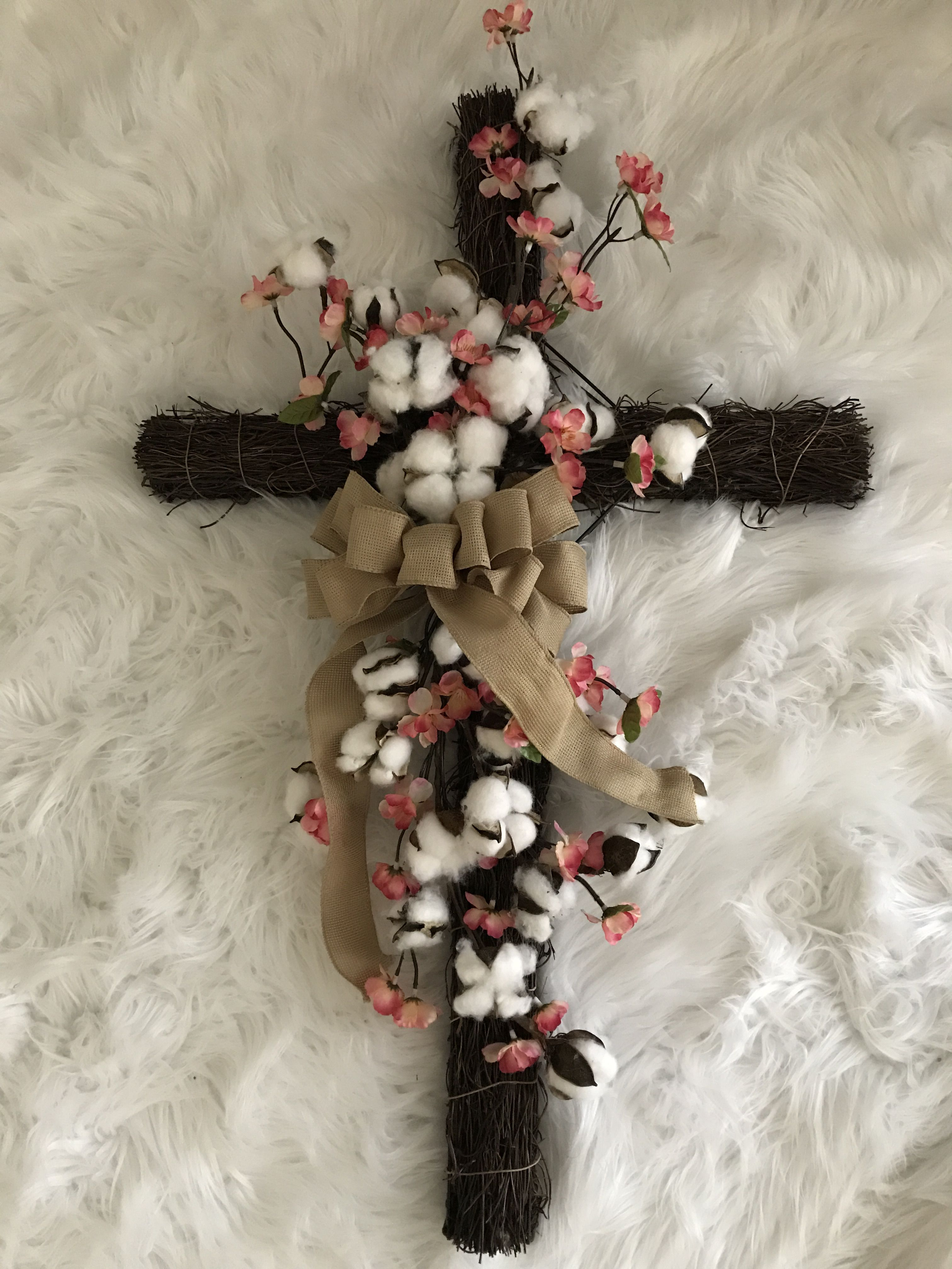 Easter cross wreath. Created by yours truly. Inspired by