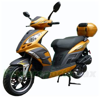 Mc D121 150cc Moped Scooter With 13 Wheels Electric Start New