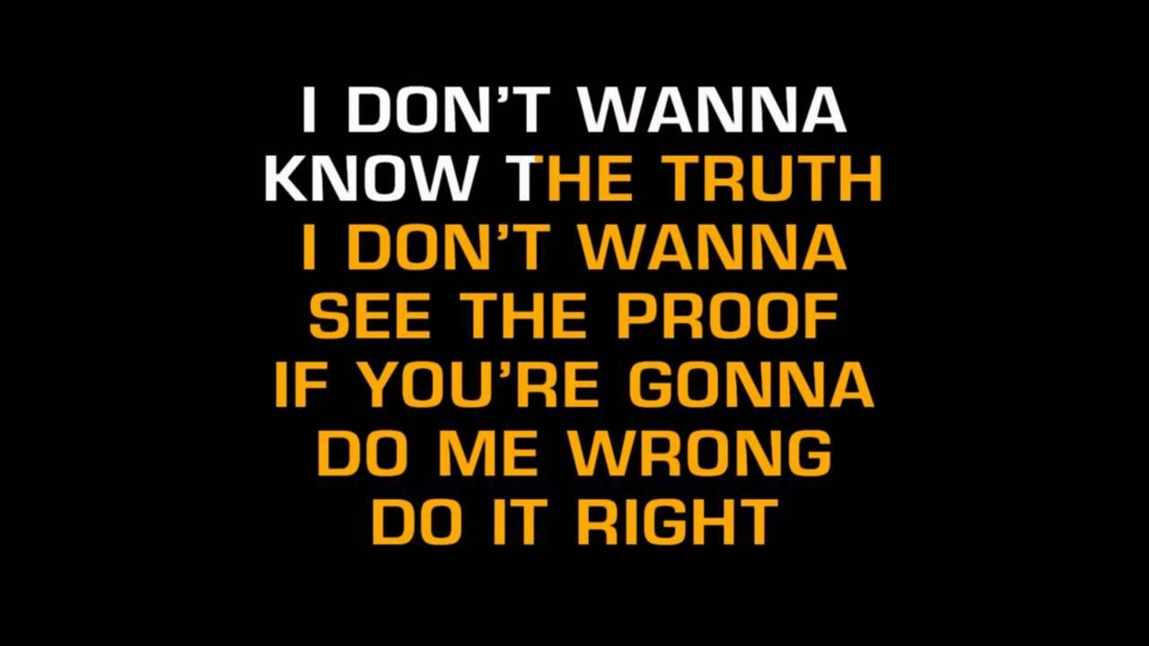 Vern Gosdin - If You're Gonna Do Me Wrong (Do It Right) (Karaoke