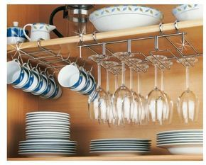 Large Mug Cup Rack Holder Under Shelf Storage 10 Cups Mugs in Cupboard Cabinet for sale online | eBay