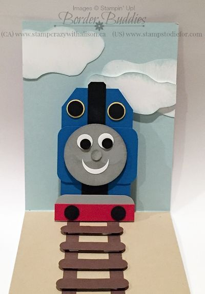 Thomas The Train Pop Up Card Stamps To Die For Old Birthday Cards Kids Birthday Cards Handmade Birthday Cards