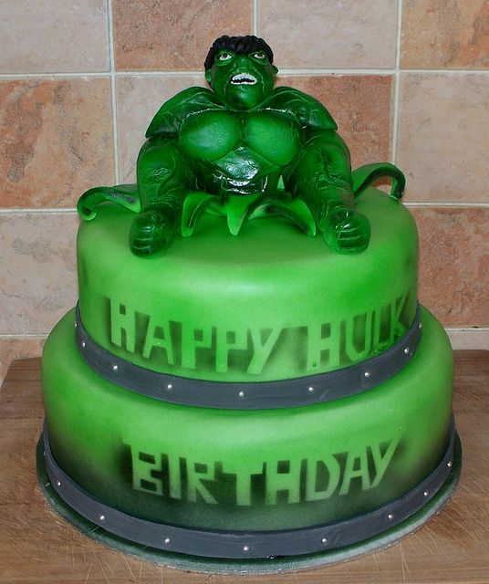 incredible hulk cake by Black Country Cakes via Flickr Hulk