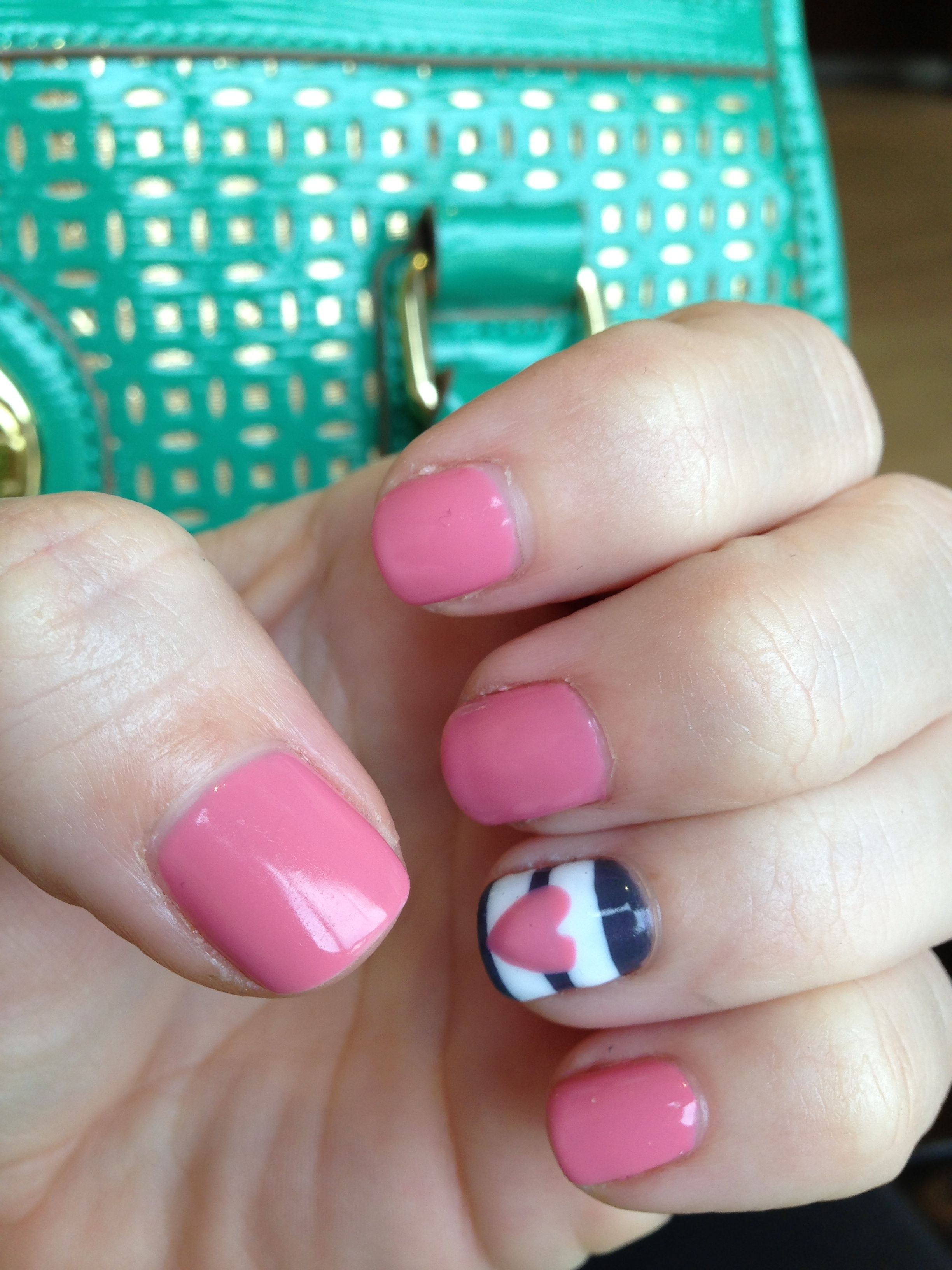 Nails heart with stripe design nail designs and ideas nails heart with stripe design prinsesfo Gallery