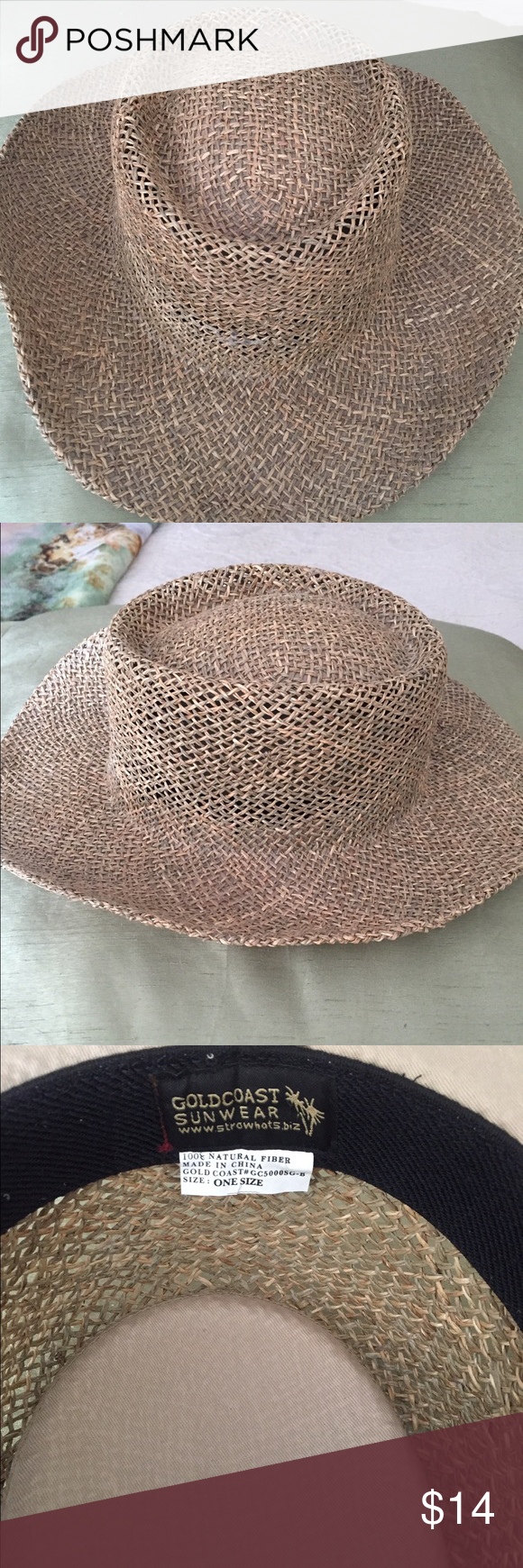 025f1e52e0707 GOLDCOAST Sunwear 100% natural straw hat GOLDCOAST 100% natural straw sun  hat. Great