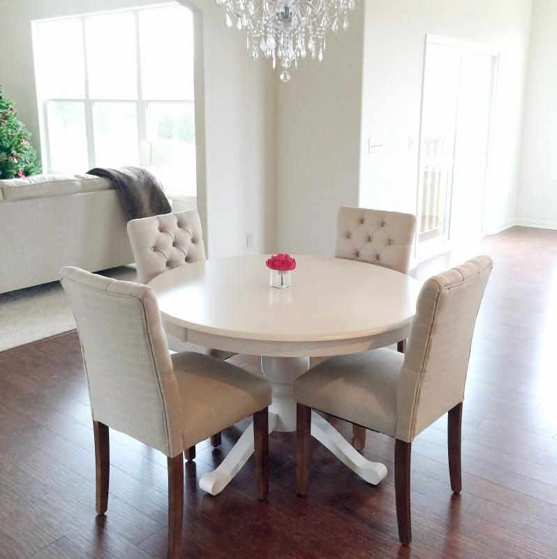 Bathroom Tufted Chair Beautiful White Tufted Dining Room Chairs In 2020 Dining Room Small Round Dining Room White Dining Room Table