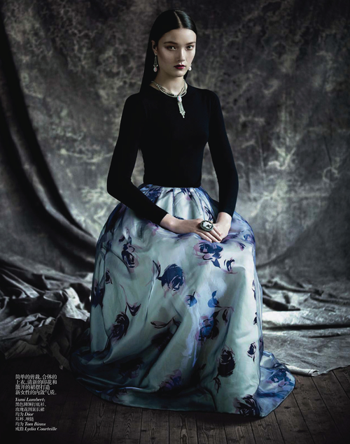 ❦ Yumi Lambert photographed by Paolo Roversi - Vogue China: April 2013 - The Charm of Diversity