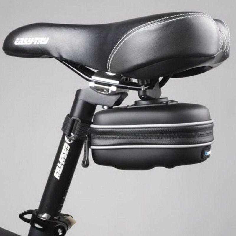 ミニ防水自転車バッグサイクリングサドルシートバッグエヴァバスケットリアポーチ防雨バイク自転車ケース黒