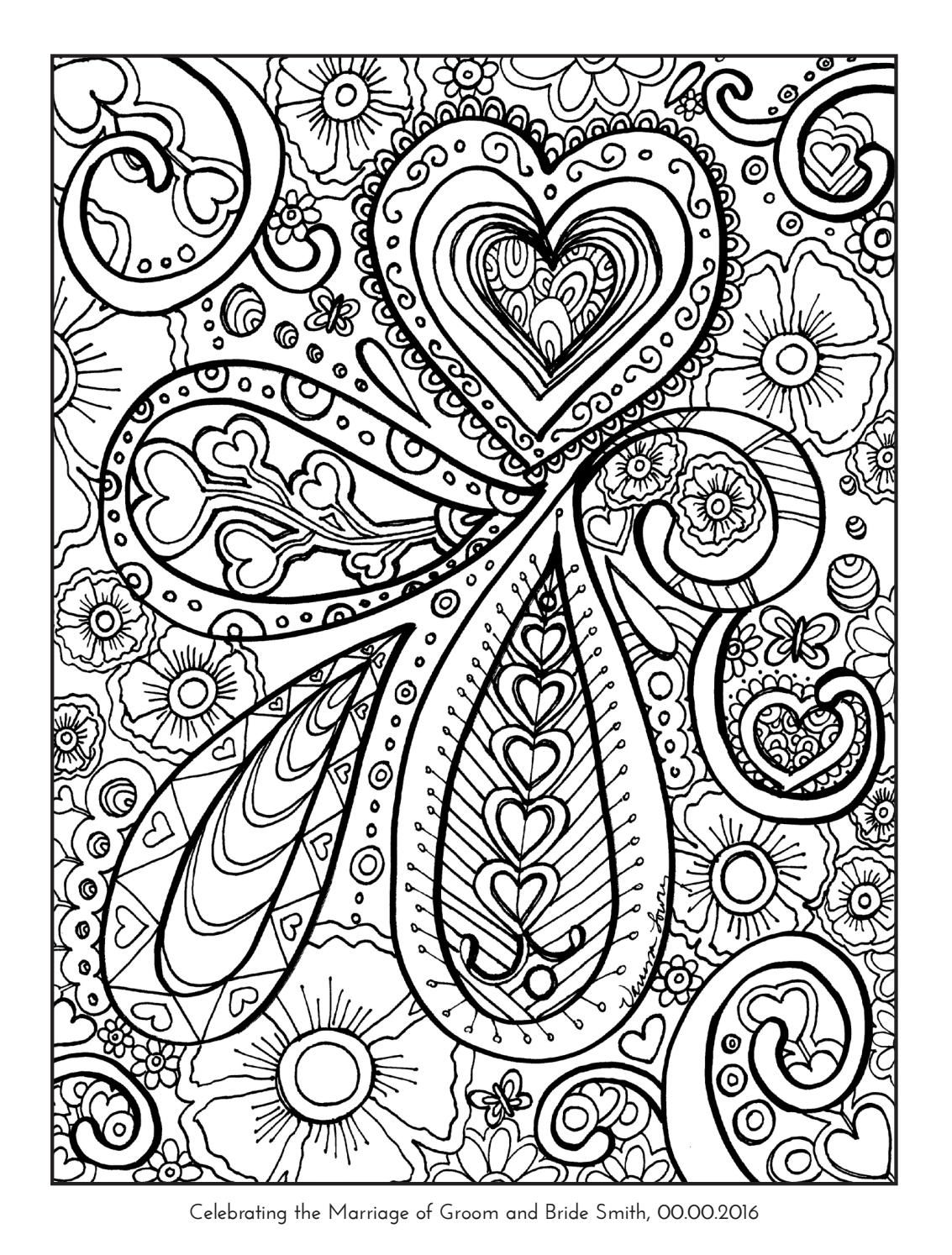 Coloring book wedding example june2016 | Favours, Coloring books and ...