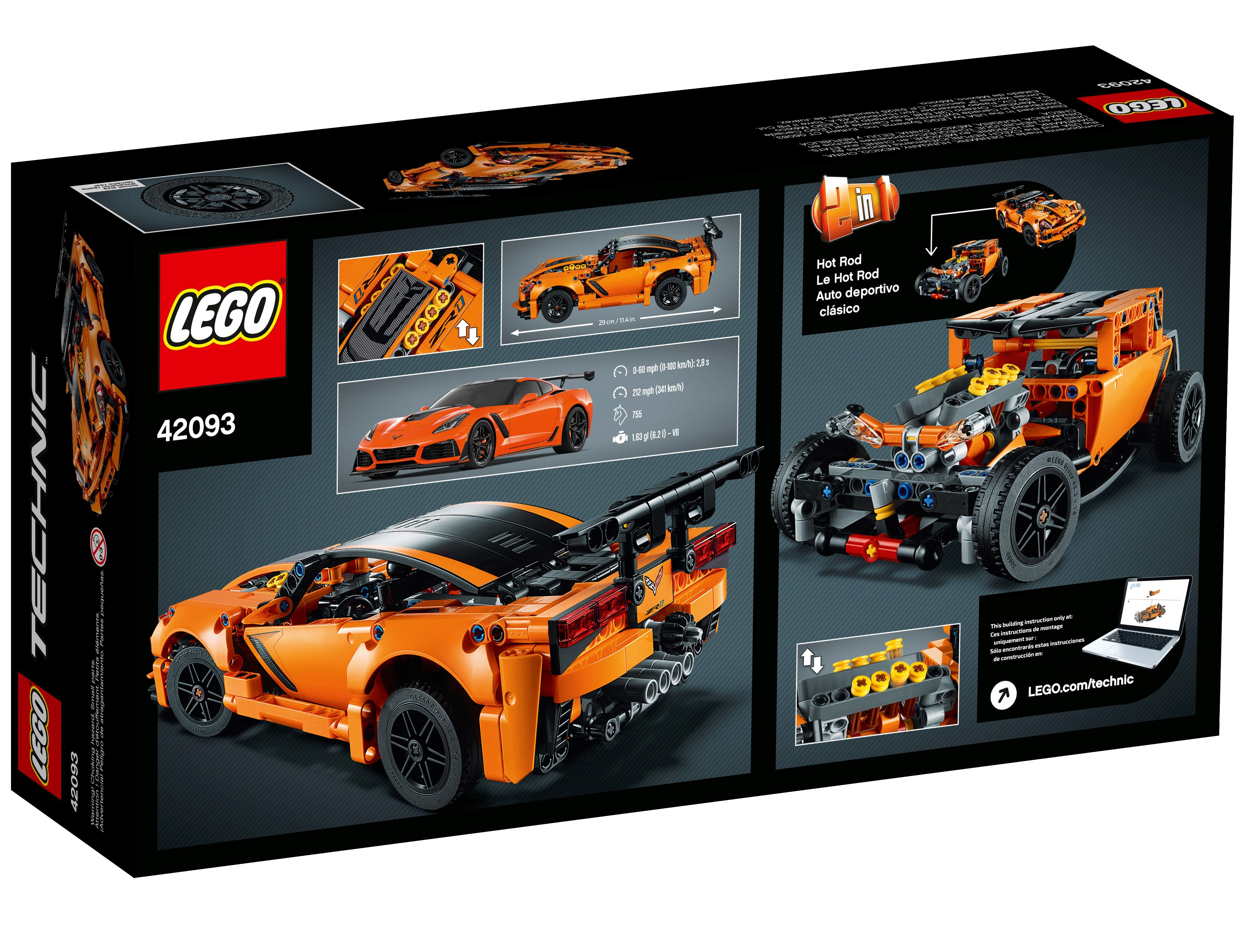 Chevrolet Corvette Zr1 42093 Technic Buy Online At The Official Lego Shop Us In 2020 Chevrolet Corvette Corvette Zr1 Lego Technic