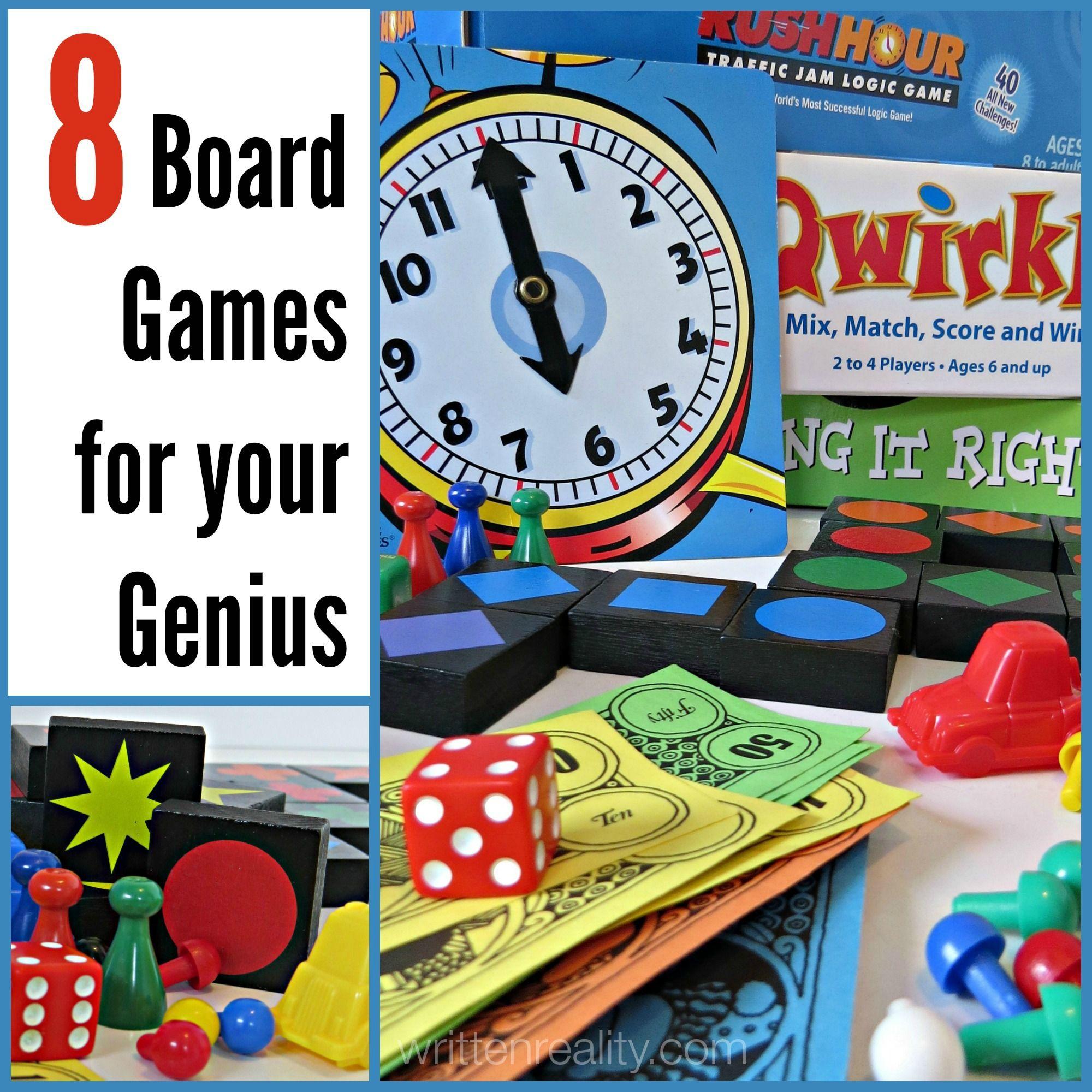 8 Board Games for Your Genius Board games, Board games