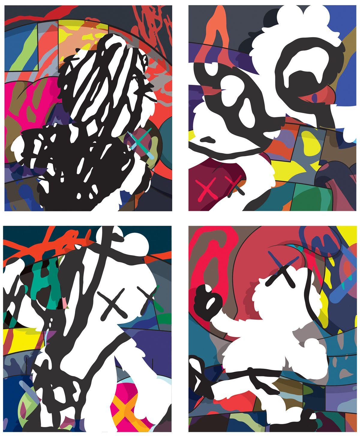 KAWS Stay Steady Reproduction print poster urban street Pop Art Snoopy