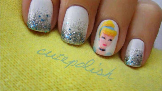Cinderella Nails Nail Designs Pinterest Cinderella
