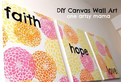 DIY Stencil : Flower Stencil Wall Art with DIY Stencils | DIY ...