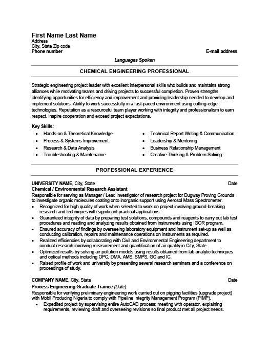 Chemical Engineer Resume Template Premium Resume Samples Example Engineering Resume Resume Examples Professional Resume Samples