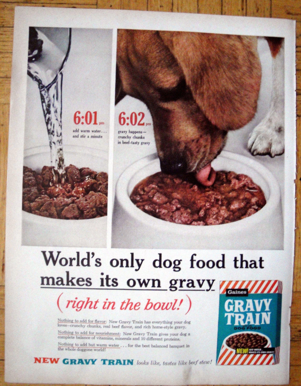 1960 Beagle Gravy Train Dog Food In The Bowl Original 13 5 10 5