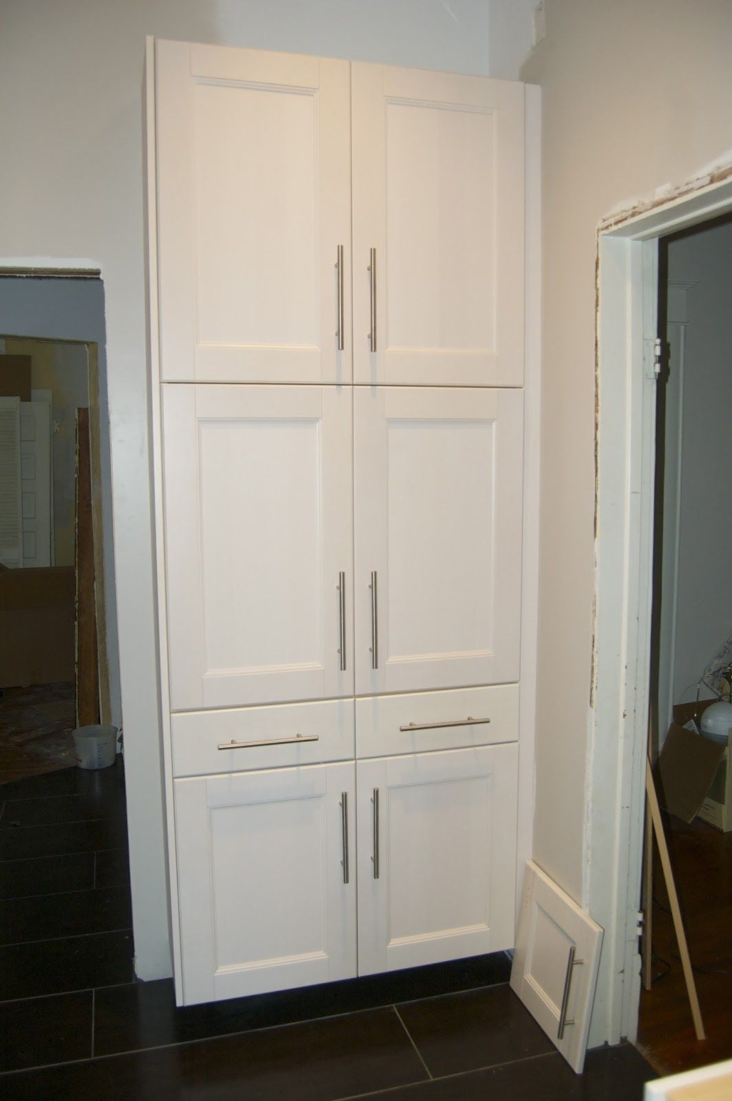 Tall White Kitchen Pantry Cabinet1