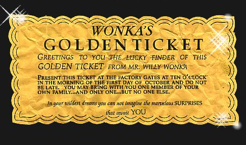 17 best images about Willy Wonka Party – Ticket Template for Pages