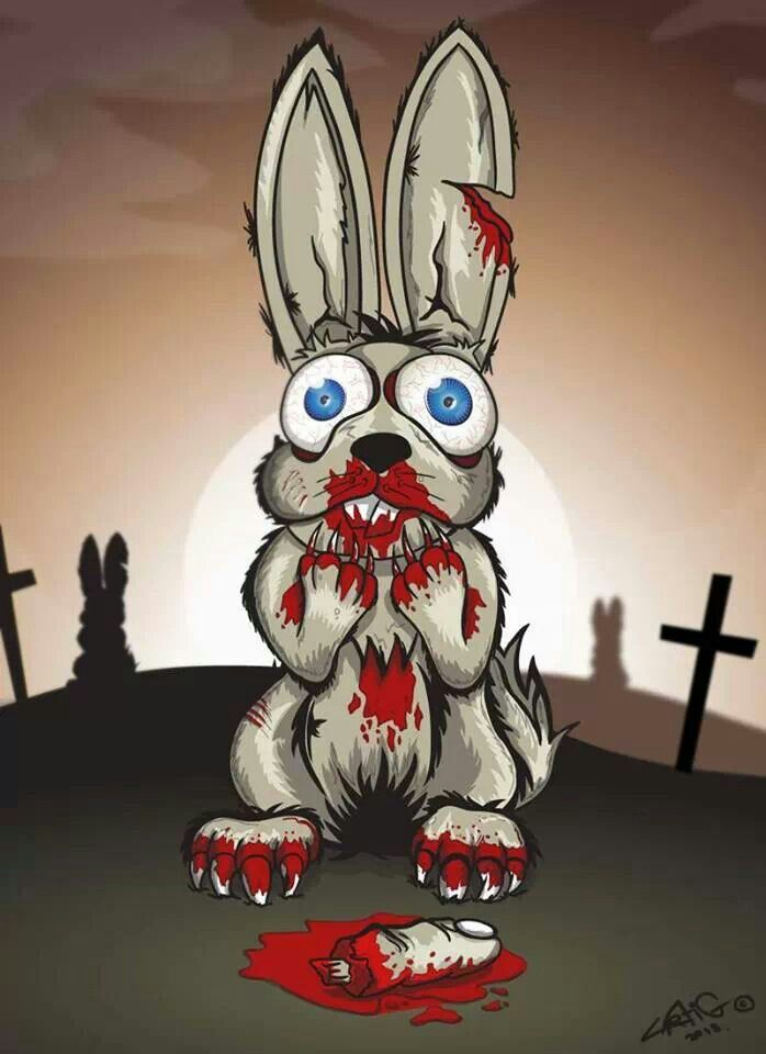 Bloody Bunny Tattoos In 2019 Horror Cartoon Evil Bunny Horror Art
