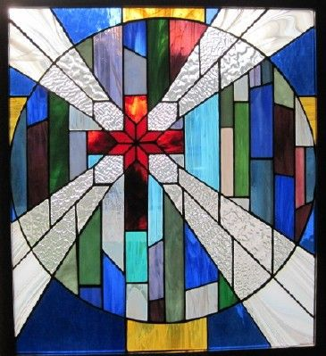 Stained Glass And What Makes It Even Better Is The Cross Inside