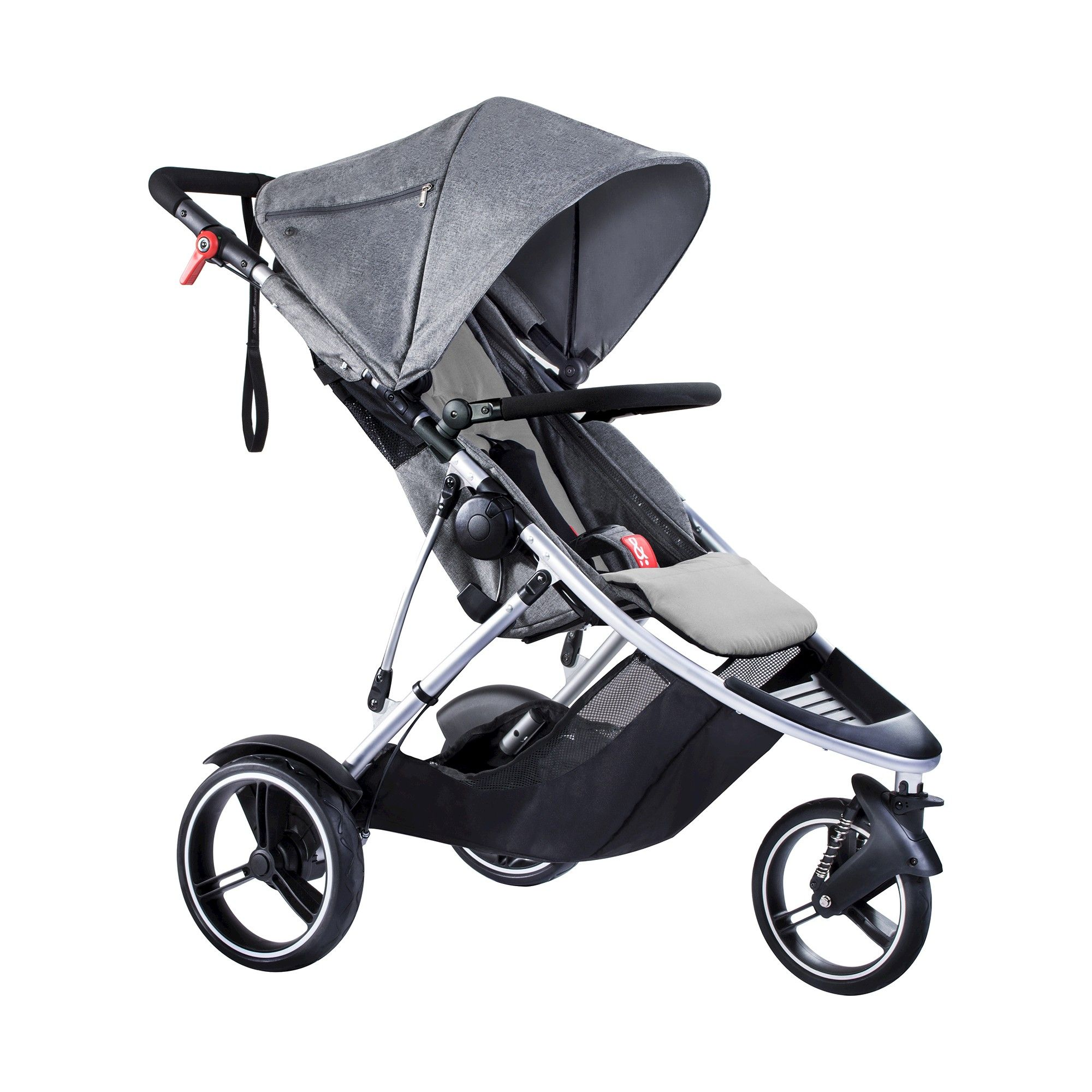 phil&teds Dash Inline Stroller, Gray Marl, Marled Gray