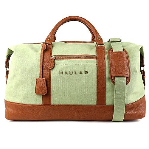 Light Green Canvas Weekender