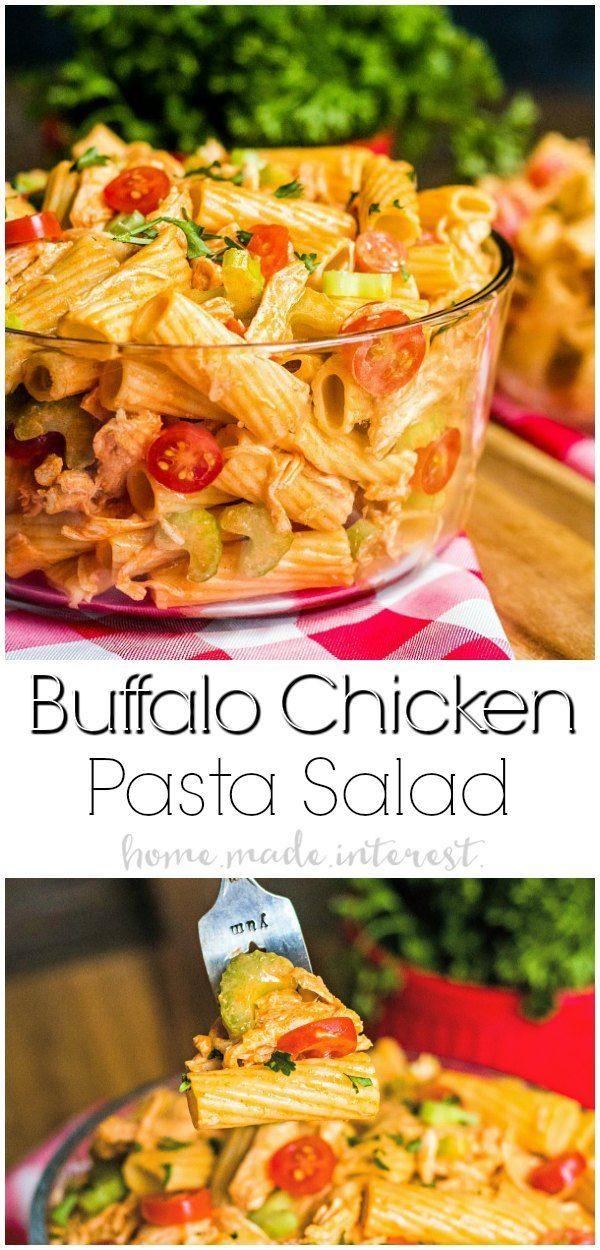Buffalo Chicken Pasta Salad   Home. Made. Interest.