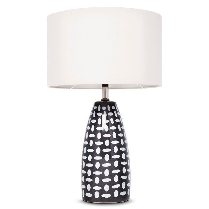 Charcoal Gray Ceramic Lamp