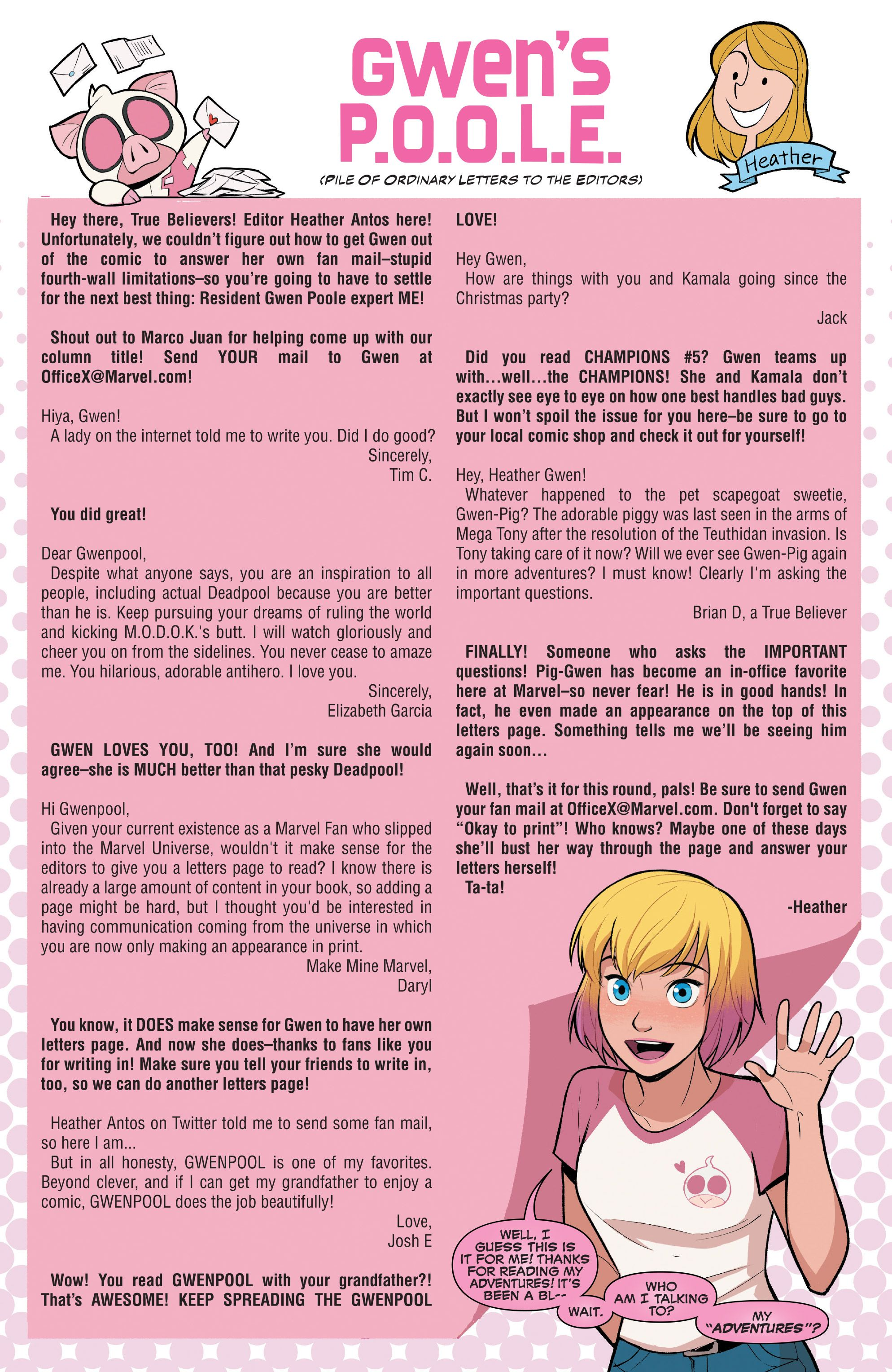 The Unbelievable Gwenpool Issue #16 - Read The Unbelievable Gwenpool ...