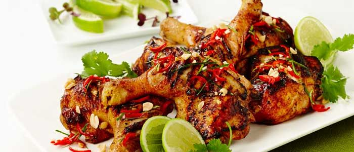 Chargrilled Chicken With Guava Lime And Lemongrass Recipe From Food