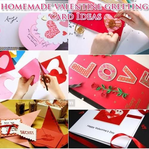 Homemade valentines day card idea can be success by using texture