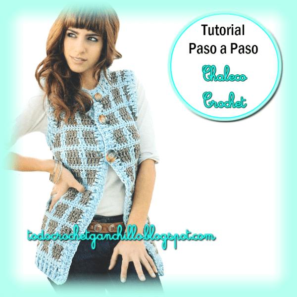 Todo crochet: Chaleco | Crochet y Dos Agujas | Pinterest | Damas ...